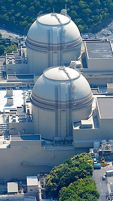 関西電力大飯原発。手前から3号機、4号機=福井県おおい町