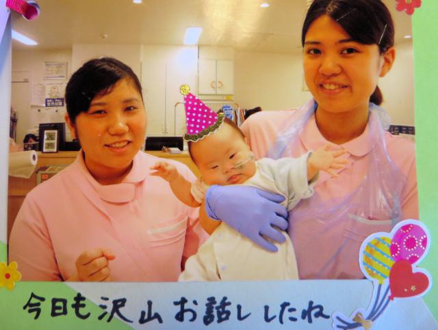 家族のために、聖マリア病院のスタッフがさくらちゃんの写真を撮りためてくれていた=家族提供