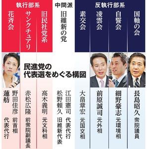 民進党の代表選をめぐる構図