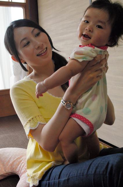 連載で紹介した上田知夏さんは、長女の子育てに忙しい毎日を送る