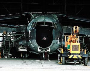 復活折衝で予算化されたジェット輸送機C1=1972年12月撮影