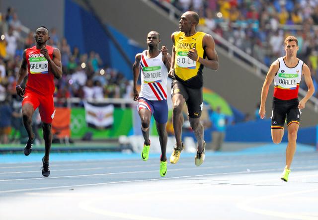 男子200メートル予選に出場したジャマイカのボルト=ロイター
