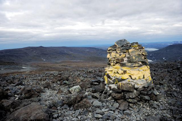 ノルウェーとの国境にあるフィンランド最高峰のハルティ山。本来の山頂はノルウェー側にあるが、同国がフィンランドにプレゼントすることが検討されている=Mikko Stig/Lehtikuva、 via AP、 File