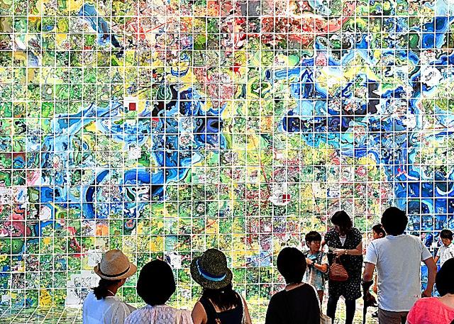 ジェリー・グレッツィンガーの「Jerry's Map」=名古屋市東区、戸村登撮影