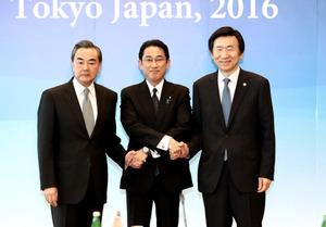 「北朝鮮は安保理決議の順守を」 日中韓外相が共同会見