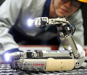 原子炉格納容器に投入される調査ロボット