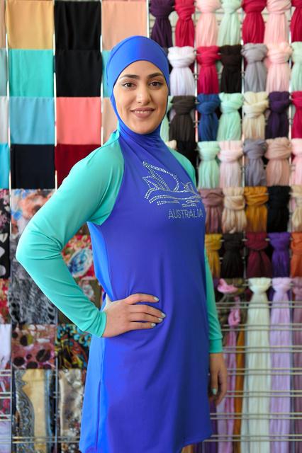 イスラム教徒の女性用の水着ブルキニ=シドニー西部、AFP時事