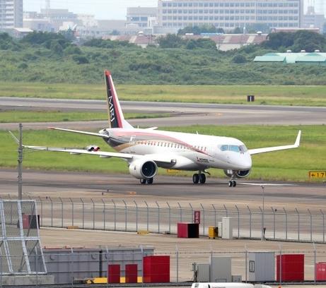 MRJ、2日連続名古屋へUターン また空調に不具合