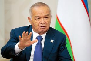 ウズベキスタンのカリモフ大統領=AP