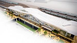 新駅のイメージ図(JR東日本提供)