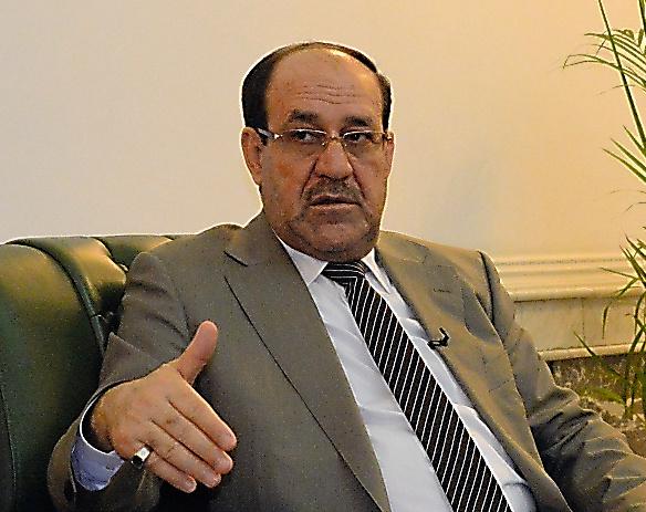 イラクのマリキ前首相=7日、バグダッド、渡辺淳基撮影
