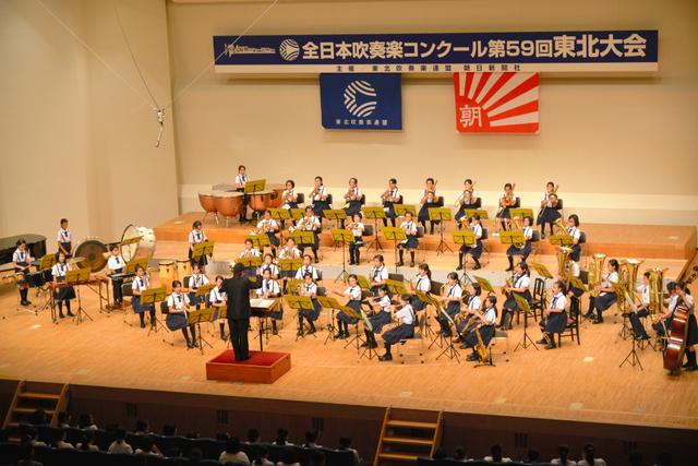 東北代表に選ばれた福島市立笹谷小=郡山市の市民文化センター