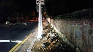 12日夜の地震で瓦が落ちた慶州・仏国寺(プルグクサ)の施設=韓国文化財庁提供