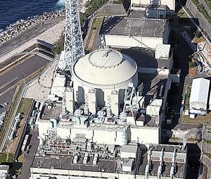 高速増殖原型炉「もんじゅ」=福井県敦賀市、本社ヘリから