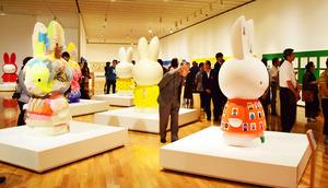 内覧会で公開されたミッフィー展の会場=島根県益田市有明町