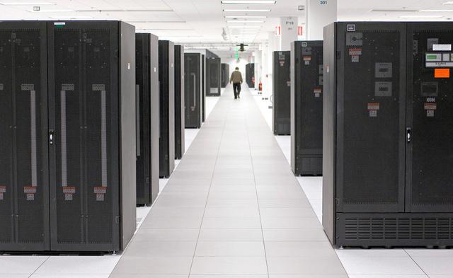 人工知能ワトソンを開発した米IBMのデータセンター=米ノースカロライナ州、日本IBM提供