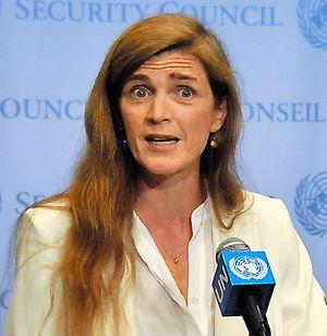 ロシアを批判する米国のパワー国連大使
