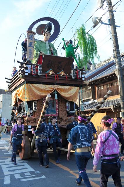 昨年の「佐原の大祭 秋祭り」の様子=千葉県香取市