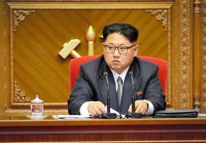 金正恩(キムジョンウン)・朝鮮労働党委員長。今年5月に36年ぶりに開かれた党大会で撮影=AP
