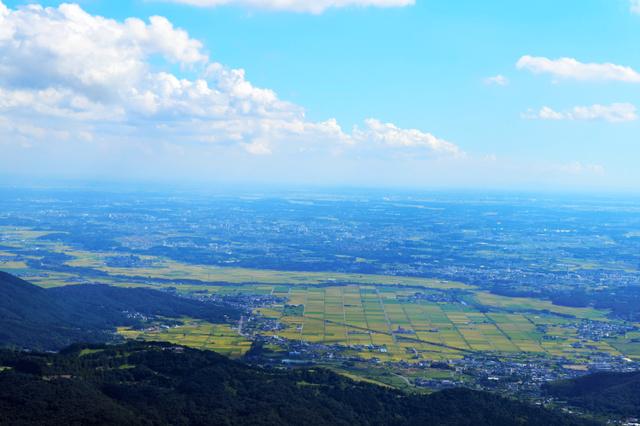 筑波山頂から望む関東平野