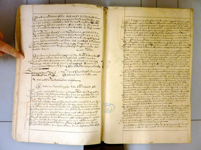 オランダ東インド会社の商務員ワウテルセンが平戸オランダ商館長に宛てた1615年6月11日付の書簡(オランダ・ハーグの国立文書館所蔵、日文研のフレデリック・クレインス准教授提供)