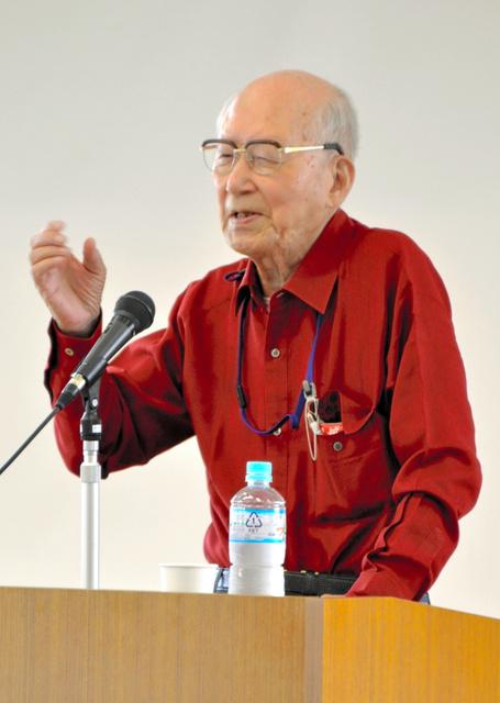 各地で原爆投下直後の広島での体験などを語ってきた肥田舜太郎さん