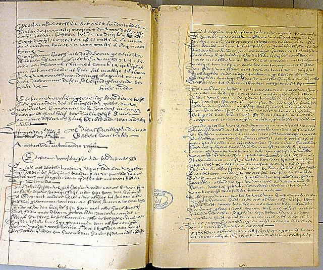1615年6月11日付の書簡(オランダ・ハーグの国立文書館所蔵、日文研のフレデリック・クレインス准教授提供)