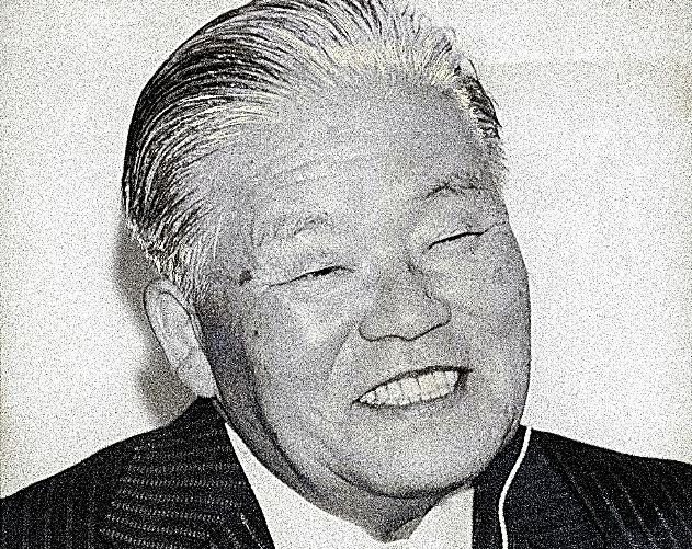 総裁選に勝利した大平正芳氏=1978年11月27日、東京都港区赤坂の大平事務所