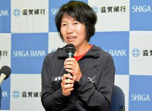 滋賀)パラマラソン5位の近藤さん会見 次はメダル狙う