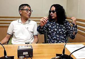 いとうせいこう(左)とみうらじゅん=文化放送のスタジオ