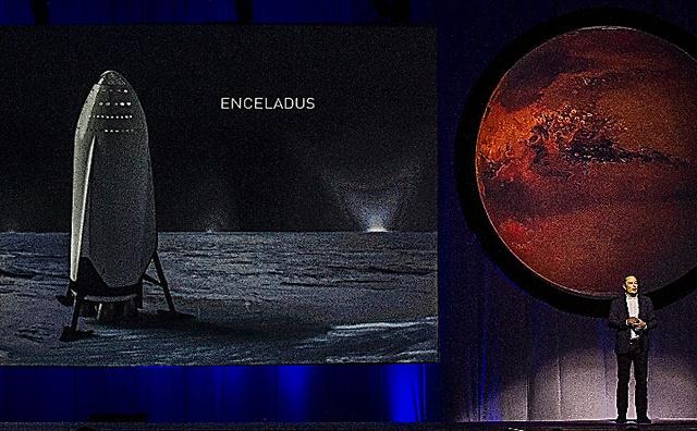メキシコで27日、米宇宙企業スペースXが火星への有人宇宙船計画の詳細を公表した=AFP時事