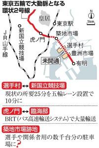 東京五輪で大動脈となる環状2号線