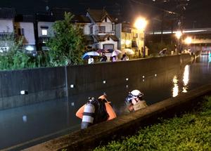アンダーパス、水位急上昇に注意 大雨で水没の危険