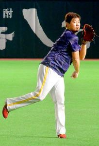 タカ松坂「普通に投げられたら」 2日の登板向け練習