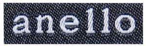 類似品のリュックに付いていたロゴ=原告側提供