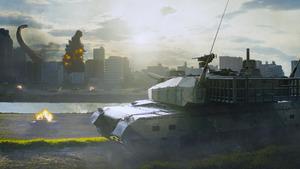 自衛隊とゴジラが対決する「シン・ゴジラ」の一場面(C)2016 TOHO CO.,LTD.)。映画は全国東宝系で上映中