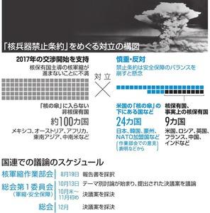 「核兵器禁止条約」をめぐる対立の構図/国連での議論のスケジュール