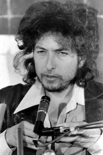 コンサートのため来日したボブ・ディランさん=1978年
