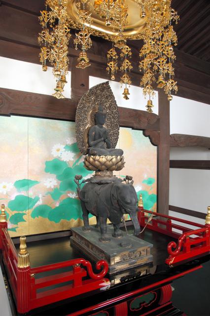妙法院の本尊、普賢菩薩騎象像=京都古文化保存協会提供