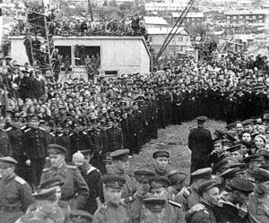 北クリル諸島の上陸作戦からカムチャツカ半島に帰還したソ連軍部隊
