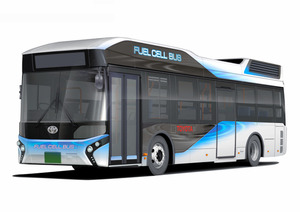 トヨタ自動車が発売する燃料電池バス=同社提供