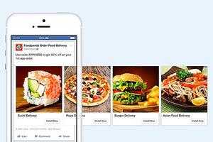 横にスクロールする広告のイメージ。スマートフォン画面でもPRしやすい=フェイスブックジャパン提供