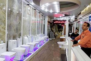 首都テヘランのトイレ専門店。モダンな雰囲気だ