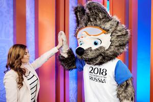 オオカミ、ネコとトラ破る ロシアW杯のマスコット決定