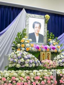 今年8月の母の葬儀