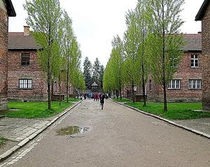 アウシュビッツ強制収容所跡の建物群。施設が残ったことで、実態が後世に伝えられた