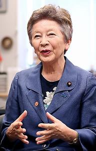 日本のこころを大切にする党・中山恭子代表=金川雄策撮影