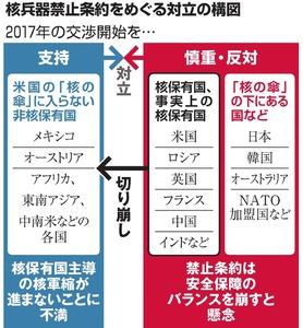 核兵器禁止条約をめぐる対立の構図