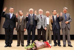 ノーベル賞の大隅さんら「七人の侍」、京産大で講演