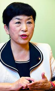 社民党・福島瑞穂副党首=角野貴之撮影
